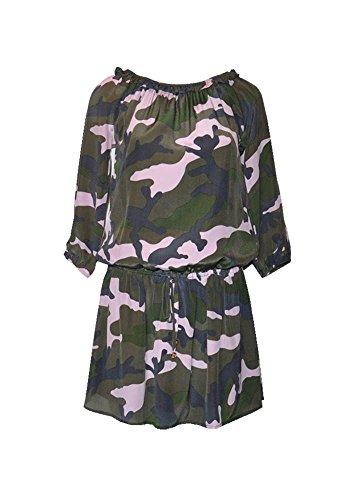 Pires Kleid Nicole Ana Frau Tarnung Milano 100 Seide Bedrucktes ad6q6Uw