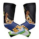 Arm Sleeves Owls Reading Books Man Baseball Long Cooling Sleeves Sun UV Compression Arm Covers