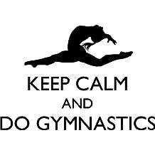 "Girl's Gymnastics Sticker - Vinyl Bedroom Decor | Keep Calm and Do Gymnastics | Gymnast Wall Decal | 22""x15"""