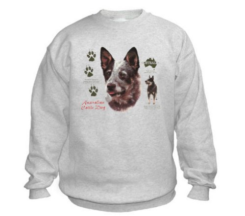 Australian Cattle Dog Sweatshirt (XLarge, Ash Grey) ()