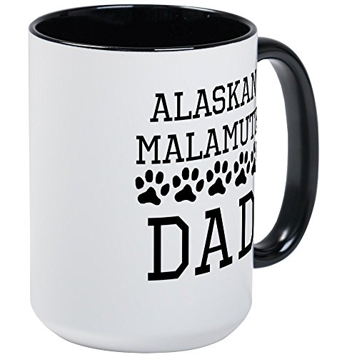 CafePress - Alaskan Malamute Dad Mugs - Coffee Mug, Large 15 oz. White Coffee Cup