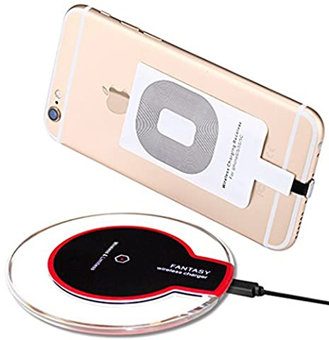 Wireless Charger, Qi Wireless Charging Pad for for iPhone 5 5S 5C 6 6S 6 Plus 6S Plus 7 7 Plus, Samsung Galaxy S7/S7 Edge,S6/S6 Edge HTC NOKIA,Universal For All Qi-Enabled Devices (Phone Case Charges)