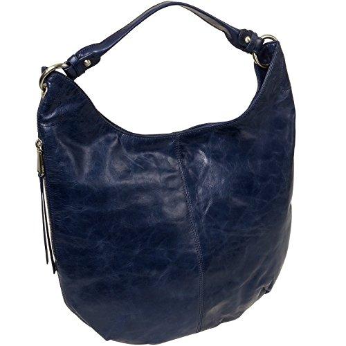 [Hobo Women's Leather Vintage Gardner Shoulder Handbag (Royal)] (Hobo Purse)