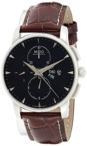 Mido Mens Automatic Watch, Analog Display and Leather Strap M8607.4.18.82
