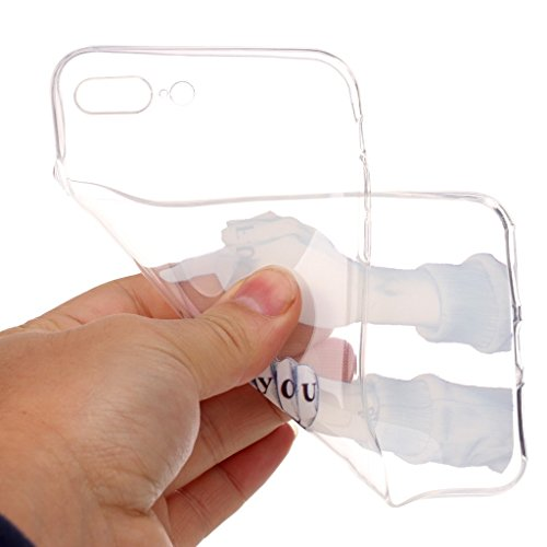 """Crisant Fick dich Drucken Design weich Silikon TPU schutzhülle Hülle für Apple iPhone 7 Plus 5.5"""" (5,5''),Premium Handy Tasche Schutz Case Cover Ultra thin transparent Crystal Bumper Schale für Apple"""