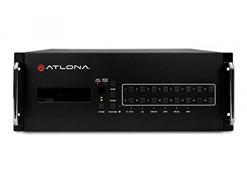 Atlona Technologies AT-PRO2HD1616M 16 x 16 Inches HDMI Matrix Switch 1.4 with CAT5/6 ()
