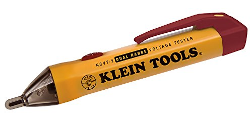 Voltage Electrical Tester (Dual Voltage Tester, Non Contact Tester for High and Low Voltage with 3-m Drop Protection Klein Tools NCVT-2)