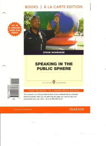 Speaking in the Public Sphere, Books a la Carte Edition