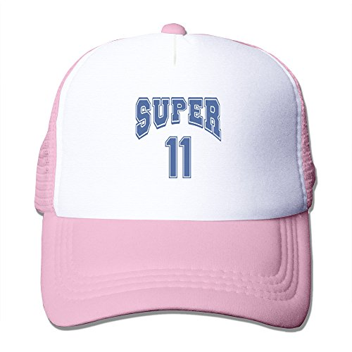 Cool Super #11 Mesh Baseball Hats Pink
