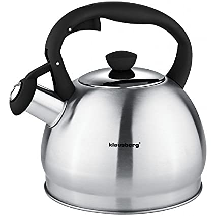 1,8 litros Hervidor para Whistling Kettle Inducción té Jarra Agua Hervidor de agua acero inoxidable negro