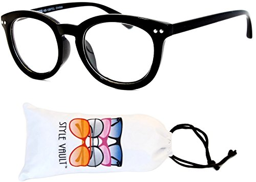 E3001-VP Style Vault Clear Lens Round Cateye Eyeglasses (B2023F - Glasses With Thick Nerd