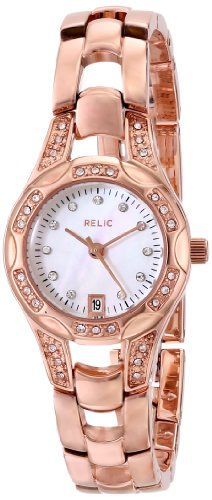 Relic by Fossil Women's Charlotte Quartz Stainless Steel Dress Watch, Color: Rose Gold-Tone (Model: ZR12067)