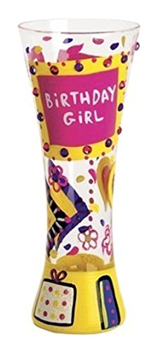 "Designs by Lolita ""Birthday Girl"" Hand-painted Artisan Shot Glass, 2 - Amazon Glasses Funny"