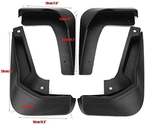 JUZZQ Set Mud Flaps,For Ford Focus 3 MK3 Hatchback 2011-2018 Black 4Pcs Front And Rear Car Splash Guard Fender Mud Guards 2018 2017 2016 2015 2014 2013 2012 2011