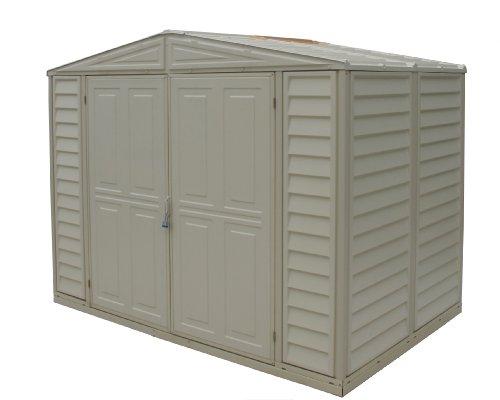 Duramax model 00111 8x6 duramate vinyl storage shed lawn for Garden shed uae