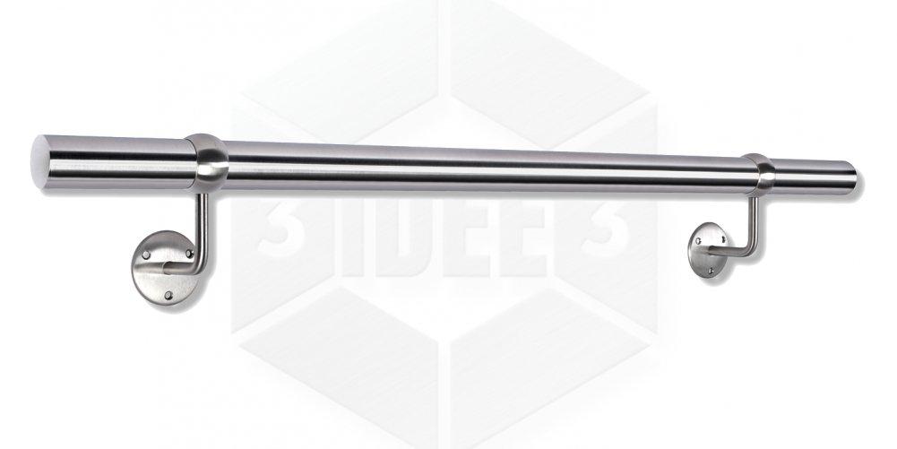 HandlaufBola Classic /Ø42,4x2mm aus rostfreiem Edelstahl geschliffen K240 frei konfigurierbar Gr/ö/ße 2700 mm