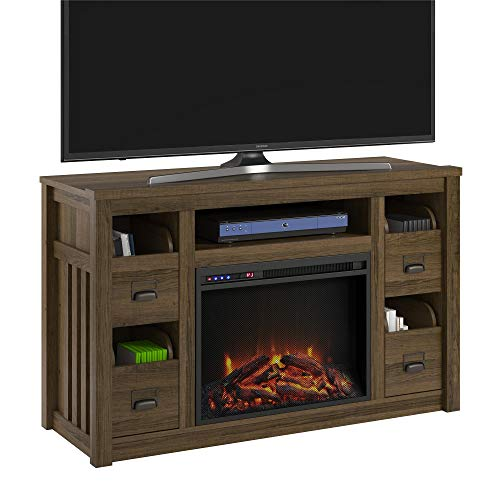 Cheap Adams TV Stand with Fireplace for TVs up to 55