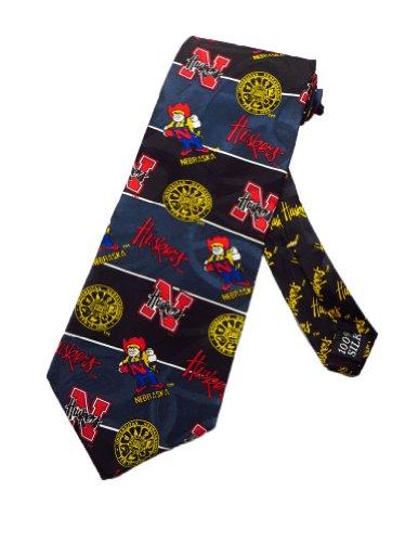 - Wembley Mens University of Nebraska Cornhuskers Necktie - Navy Blue - One Size Neck Tie