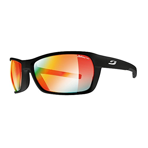 Blast Matte (Julbo Blast Photochromic Zebra Light Fire Sunglasses Matte Black/Zebra Light Fire, One Size - Men's)