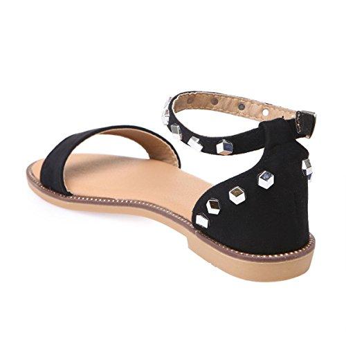 En Sandales Noir Suédine Modeuse Plates La q8nAt5w5