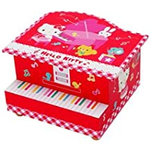 Japanese Sanrio Hello Kitty Musical Jewelry Case Piano