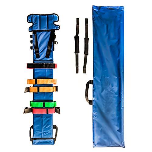 ASATechmed EMS Pediatric Spinal Immobilization Board - Medical Stretcher Pedi-Board Head Harness System - MRI Compatible with Heavy Duty Nylon Cover