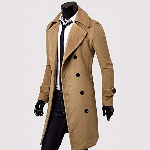 Cachi 8Eninine 2XL Fashion Men Turndown Long Coat Autunno Inverno Capispalla Giacca Doppio Petto