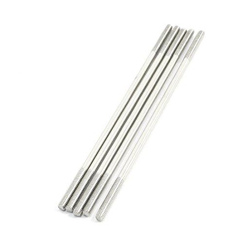 5pcs Both End 2mm Thread Dia Steel Main Vane Linkage Rod
