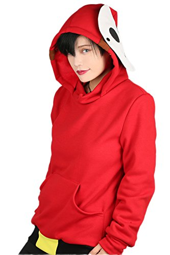 xcoser Womens SHY Guy Sweatshirt Hoodie Jacket Halloween Costume L -