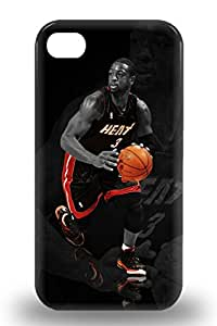 For Iphone 4/4s Protector 3D PC Case NBA Miami Heat Dwyane Wade #3 Phone Cover ( Custom Picture iPhone 6, iPhone 6 PLUS, iPhone 5, iPhone 5S, iPhone 5C, iPhone 4, iPhone 4S,Galaxy S6,Galaxy S5,Galaxy S4,Galaxy S3,Note 3,iPad Mini-Mini 2,iPad Air )