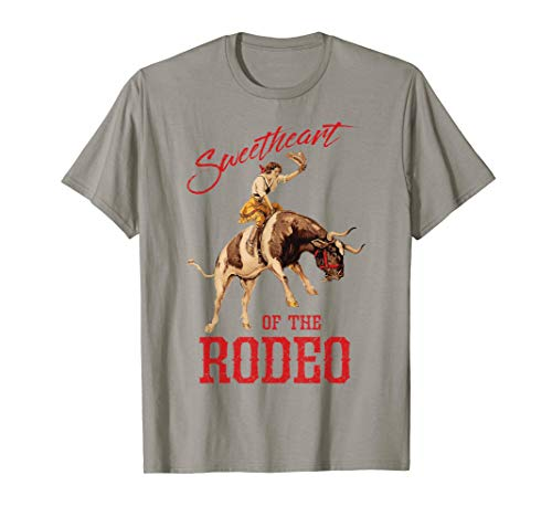 Sweetheart of The Rodeo Western Cowboy Cowgirl Vintage Cute T-Shirt
