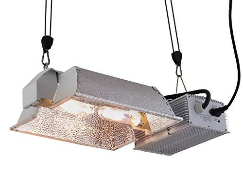 CDMALL 630W CMH Grow Light 3100K Double Lamp Ceramic Metal Halide Grow Light System Kits for Indoor Plants includes 2 x 315 Watt CMH Bulbs - Hps Metal Grow Light