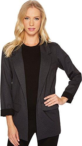 Liverpool Jeans Company Women's Boyfriend Blazer in Heather Tweed Ponte Knit, Grey, XL