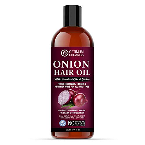 Optimum Organics Onion Herbal Hair Oil For Hair Fall Control For Women And Men, Red Onion And All Natural Extracts(250ML…