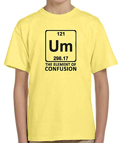 Price comparison product image UM Element of funny kid's youth short sleeve tshirt Allure & Grace (Yellow,  10-12 L)