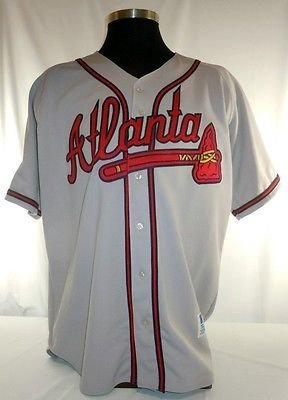 - Atlanta Braves Vintage Authentic Russell Road Jersey w/ 1999 World Series Patch