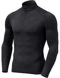 Men's Thermal WinterGear Compression Baselayer Mock Long Sleeve T Shirts YUT32 / YUZ47 / T32 / T42