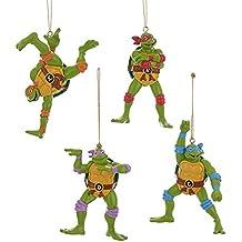 Kurt Adler Teenage Mutant Ninja Turtles Retro Christmas Ornaments 4 Assorted