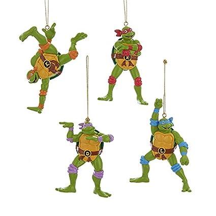 Amazon.com: Kurt Adler Teenage Mutant Ninja Turtles Retro Christmas ...