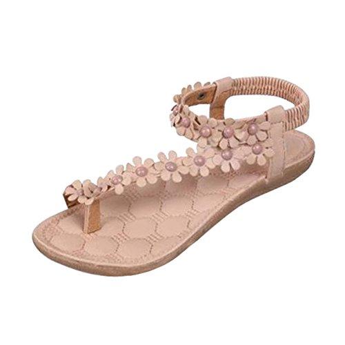 cbe93eb0353990 Start Women Comfortable Summer Bohemia Sandals Clip Toe beachshoes  Herringbone Shoes