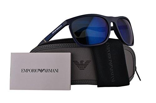 Emporio Armani EA4107 Sunglasses Blue w/Blue Lens 59mm 557596 EA ()