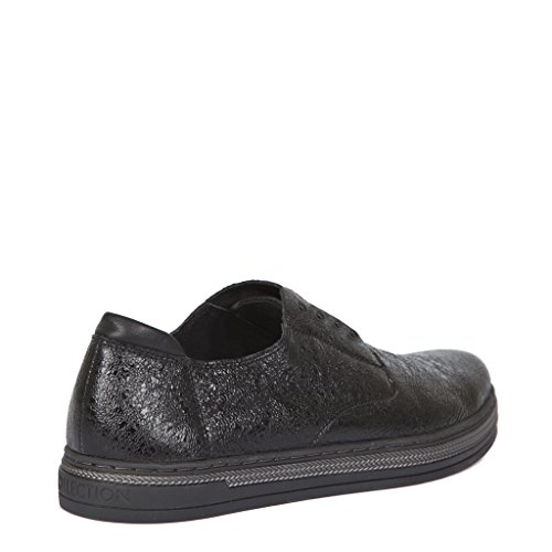 TJ Collection Women's Metallic Cracked-Leather Slip-ONS A3kCmg3C