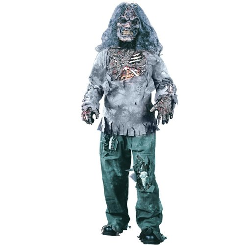 Zombie Complete Child Costume - Small (4-6))