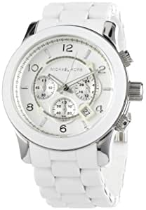 Michael Kors Men's MK8108 Runaway Stainless Steel White Watch