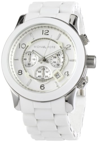 Michael Kors Men's MK8108 Runaway Stainless Steel White Watch