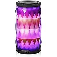 LED Bluetooth Speaker,Night Light Changing Wireless...