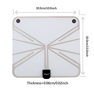 Wsky 60-100 Miles Transparent Digital HDTV Antenna - Best Hdtv Antenna Indoor - Upgraded Silver Paddle Extremely High Reception - Support 1080P 4K Super FUN and FREE for LIFE!