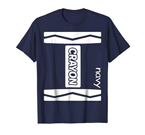 Navy Crayon Couple Friend Group Halloween Costume Shirt -
