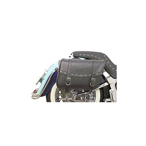 Saddlemen X021-03-041 Large Rivet Highwayman Slant-Style Saddlebag (Large Slant Saddlebags)