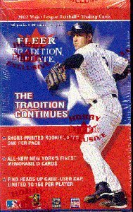 2002 Fleer Box (2002 Fleer Tradition Update Baseball Cards Unopened Hobby Box)